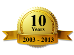 Gold Seal Ribbon 10 Years 2003 - 2013
