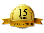 Gold Seal Ribbon 15 Years 2003 - 2018